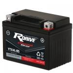 Мото аккумулятор RDrive eXtremal Silver YTX4L-BS