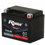 Мото аккумулятор RDrive eXtremal Silver YTX4L-BS-2017
